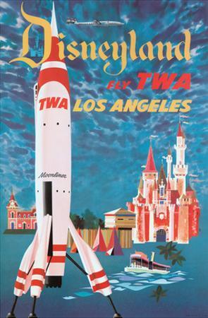 Fly TWA Los Angeles - Trans World Airlines - Disneyland's Tomorrowland TWA Moonliner