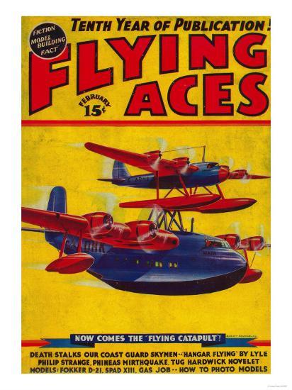 Flying Aces Magazine Cover-Lantern Press-Art Print