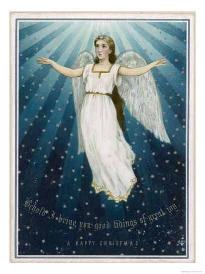 Flying Angel Among the Stars--Giclee Print