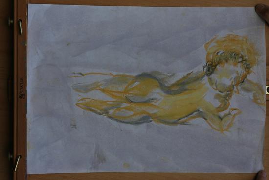 Flying angel-Cosima Duggal-Giclee Print