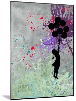 Flying Balloon Girl-Banksy-Mounted Giclee Print