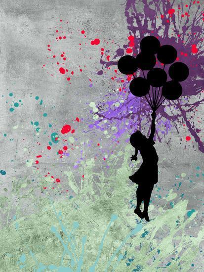 Flying Balloon Girl-Banksy-Premium Giclee Print