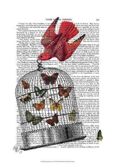 Flying Birdcage-Fab Funky-Art Print