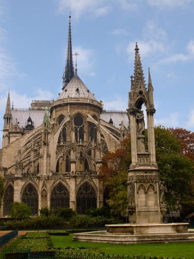Flying Buttresses of Notre-Dame, Paris, France-Lisa S^ Engelbrecht-Photographic Print