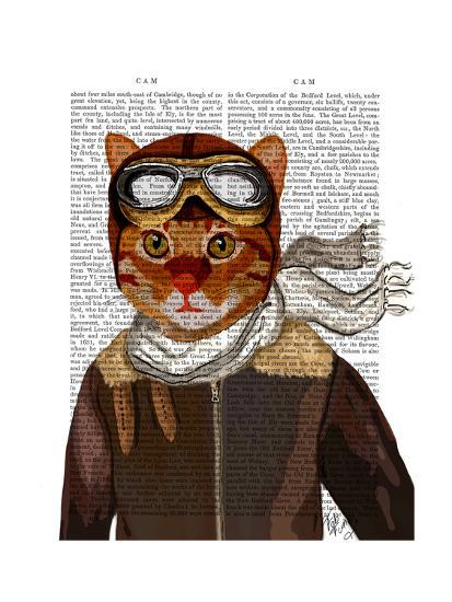 Flying Cat-Fab Funky-Art Print