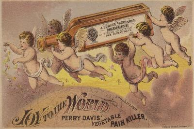 Flying Cherubs Carrying Medicine Bottle--Giclee Print