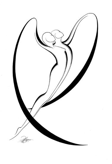 Flying Couple I-Alijan Alijanpour-Art Print