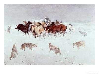 Flying Hooves-Charles Marion Russell-Giclee Print