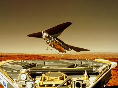 Flying Insect Robot And Refueller-Rob Michelson-Photographic Print