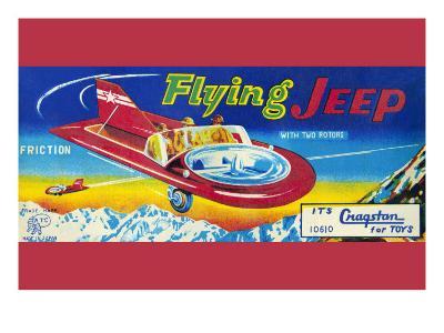 Flying Jeep--Art Print