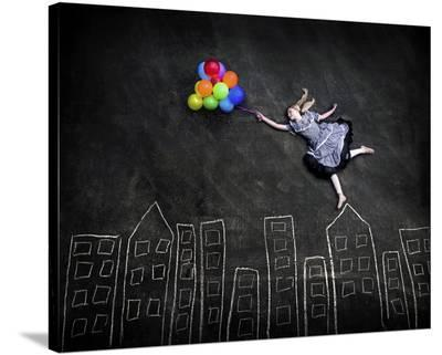 Flying On The Rooftops-Nj Sabs-Stretched Canvas Print