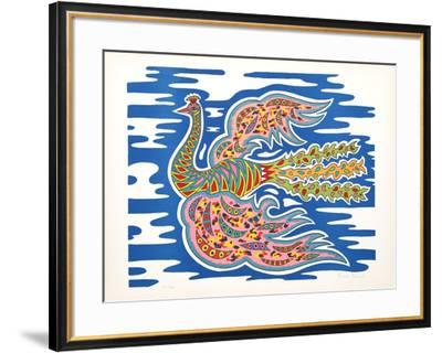 Flying Peacock I-Edouard Dermit-Framed Limited Edition