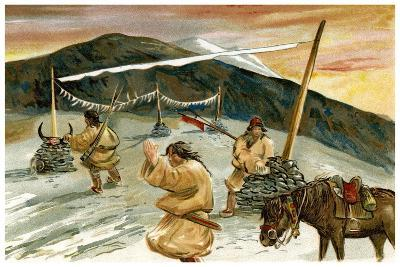 Flying Prayers on the Maium Pass, 1898--Giclee Print