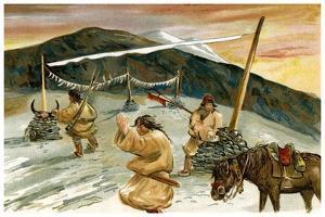 Flying Prayers on the Maium Pass, 1898