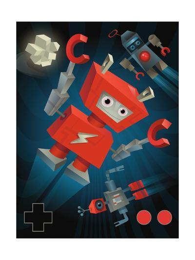 Flying Robots--Art Print