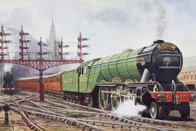Flying Scotsman Steam Locomotive--Giclee Print