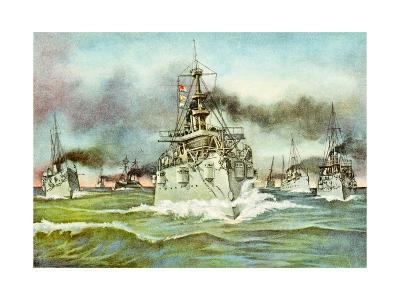 Flying Squadron of the United States Navy During the Spanish-American War, 1898--Giclee Print