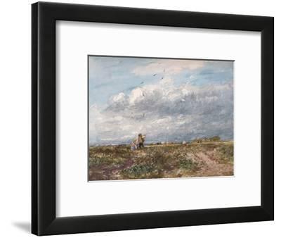 'Flying the Kite', 1852-David Cox the elder-Framed Giclee Print