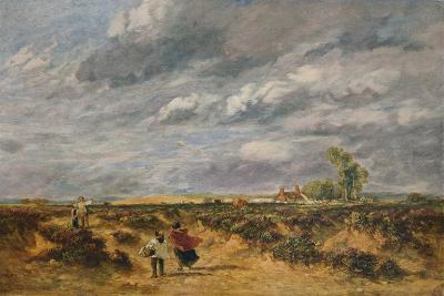 Flying the Kite, A Windy Day, 1851-David Cox the elder-Giclee Print