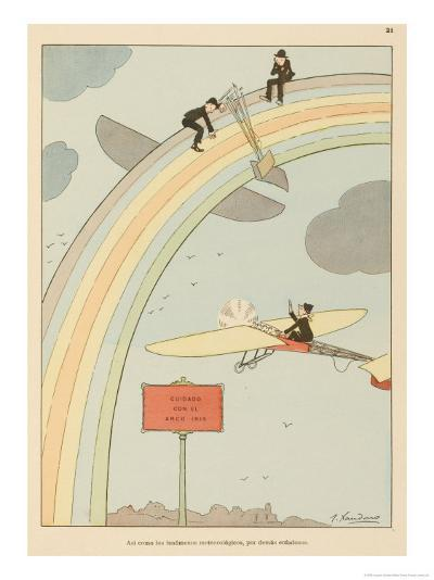 Flying to Rainbow-Joaquin Xaudaro-Giclee Print