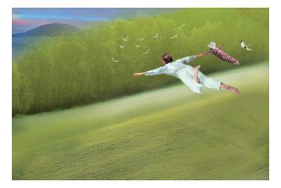Flying-Nancy Tillman-Art Print