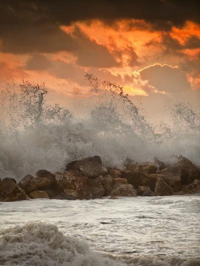 Foamy Sunset-Marco Carmassi-Photographic Print