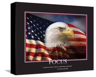 Focus--Stretched Canvas Print