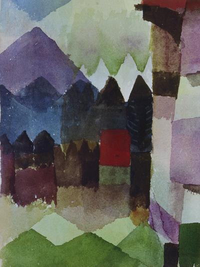 Foehn in the Garden of Franz Marc, 1915-Paul Klee-Giclee Print