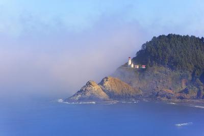 Fog Adds Beauty to Heceta Head Lighthouse, Oregon Coast, Pacific Ocean-Craig Tuttle-Photographic Print