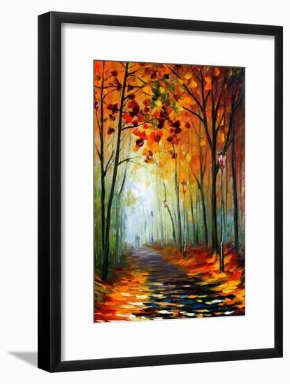 Fog Alley-Leonid Afremov-Framed Art Print