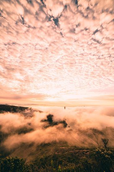 Fog and Cloud Chaos at Golden Gate Bridge, San Francisco-Vincent James-Photographic Print