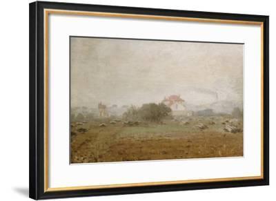 Fog, Effet de Brouillard, 1872-Claude Monet-Framed Giclee Print