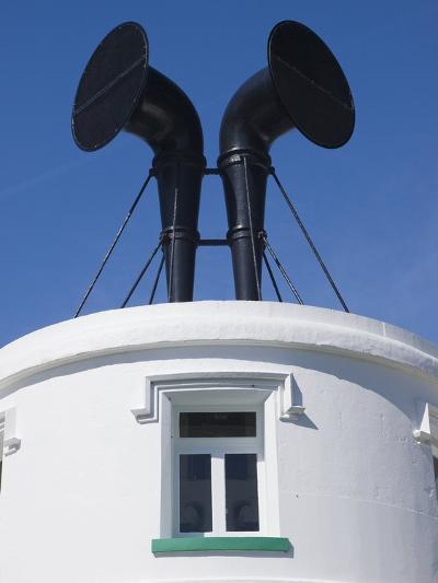 Fog Horns on Lighthouse-Adrian Bicker-Photographic Print