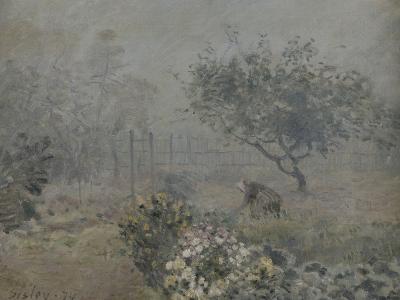 Fog in Voisins, c.1874-Alfred Sisley-Giclee Print