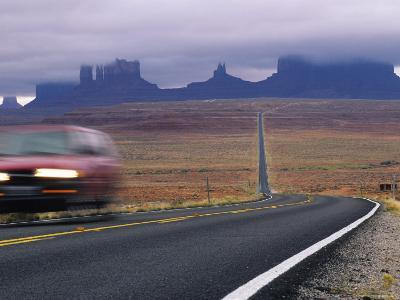 Fog Obscures Monument Valley, Utah-Bill Hatcher-Photographic Print