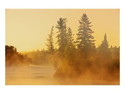 Fog on Bird River-Mike Grandmaison-Art Print