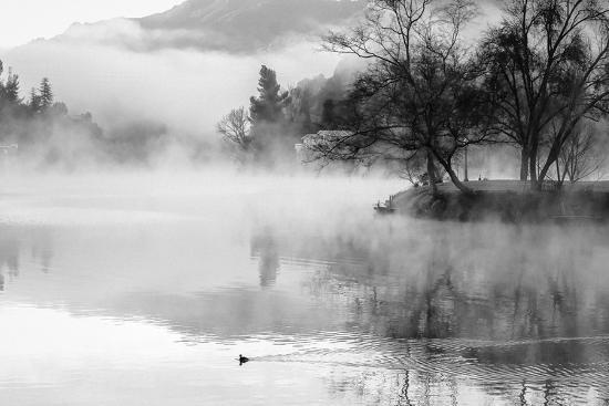Fog on the Lake 2-Sally Linden-Photographic Print