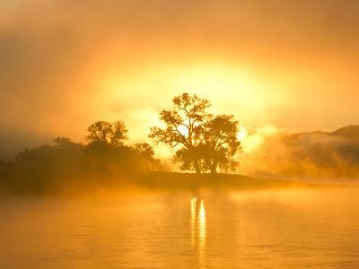 Fog on the Missouri River at the Upper Missouri River Breaks National Monument, Montana, Usa-Chuck Haney-Photographic Print