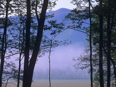 Fog over Cades Cove, Great Smokey Mountains National Park, Tennessee, Usa-Tim Fitzharris-Photographic Print