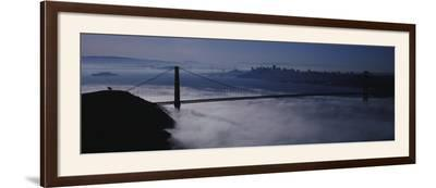 Fog over Golden Gate Bridge, San Francisco, California, USA--Framed Photographic Print
