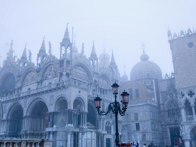 Fog Over the Basilica of San Marco in Venice--Photographic Print
