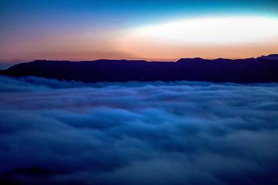 Fog Rolling in Off the Pacific Ocean in the Santa Monica Mountains-Ben Horton-Photographic Print