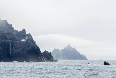 Fog Shrouds the Skellig Islands-Michael Nolan-Photographic Print