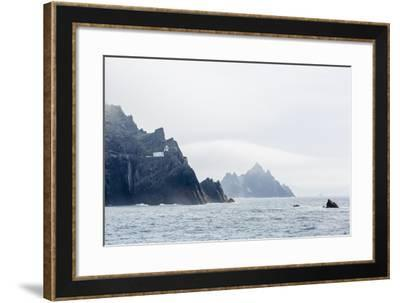 Fog Shrouds the Skellig Islands-Michael Nolan-Framed Photographic Print