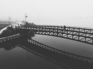 Fog White Out Bridge at Lake Merritt, Oakland