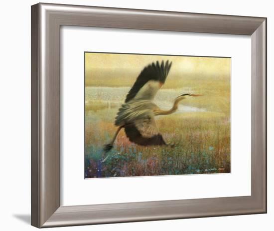 Foggy Heron I-Chris Vest-Framed Art Print
