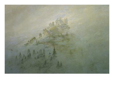 Foggy Morning in the Mountains-Caspar David Friedrich-Giclee Print