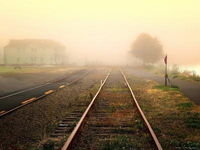 Foggy on the Tracks-Jody Miller-Photographic Print