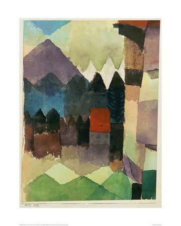 Fohn Wind in Marc's Garden-Paul Klee-Giclee Print