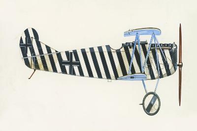 Fokker D VII-English School-Giclee Print
